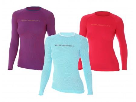 Brubeck PRO Run damska termoaktywna koszulka z długim rękawem