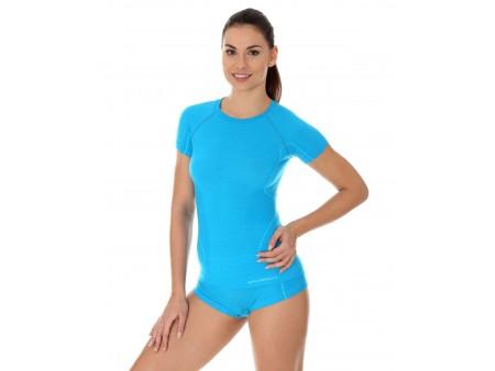 Brubeck Active Wool damska koszulka termoaktywna z krótkim rękawem