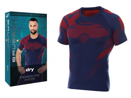 Brubeck Dry męska koszulka termoaktywna z krótkim rękawem